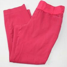 GAP MATERNITY WOMEN'S PANTS SIZE 12 Pink Two Stretch Cropped Ankle Slim Straight
