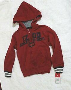 IZOD Zip Front Hoodie size M/5,6 Boys retail $37