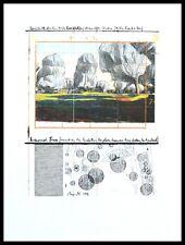 Christo Wrapped Trees Nr. IV Riehen Poster Bild Kunstdruck im Alu Rahmen 40x30cm