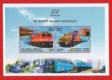 [121] Miniature Sheet 150 Years Railway Workshops 2013 MNH