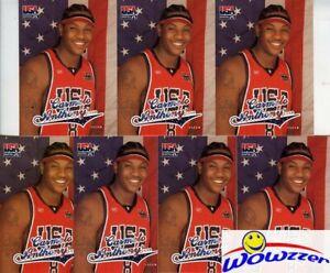 (7) 2003/04 Fleer USA Olympics Carmelo Anthony ROOKIE Card Lot MINT!  KNICKS