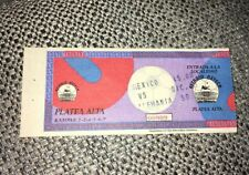 VERY-RARE 1993 MEXICO V GERMANY FRIENDLY MATCH TICKET @AZTECA STADIUM (EXC COND