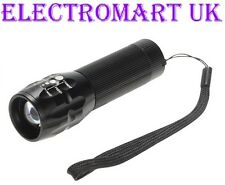 3W CREE LED ULTRA BRIGHT TORCH ZOOM LENS FLASH LIGHT INCLUDING 3 X AAA BATTERIES