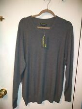 John Bartlett Grey V-neck Men's Sweater New With Tags Size Large