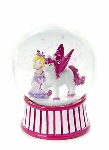 Mousehouse Pink Princess Unicorn Children's Snow Globe Gift Girls