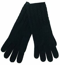 Charter Club Womens Cable Knit Gloves Navy One Size