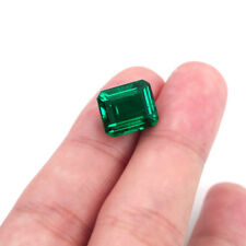 10.23ct Natural Mined Green Emerald Colombia 12x16mm Emerald Cut AAAA+ Gemstone