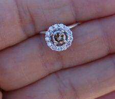 diamond pendant 14k Wg Silver Chain .82ct Brown Chocholate Le Vian Levian