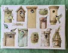 Marjolein Bastin Hallmark Stationary 8 Note Cards + Envelopes Bird House Nature