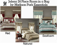 Madison Park Essentials Jelena 24 Piece Room in a Bag in Natural, Red or Seafoam