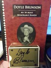 My 50 Most Memorable Hands by Doyle Brunson (Paperback, 2007) + Free gift
