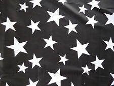 Black & White Star Cotton Lawn Dress Fabric Material By Metre Crafts Shabby Chic