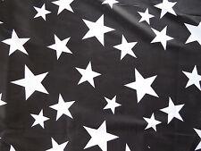 Black & White Star Vestido De Césped De Algodón Tejido Manualidades Shabby Chic 50 cm Remanente
