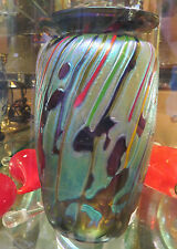 Rick Hunter Signed Art Glass Vase, hand blown original vase