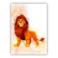 The Lion King Collection Watercolour Art Print Nursery Wall Decor Picture Poster