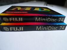 """2x Fuji  MD 74  -  MiniDisc  - Minidisk  -  """"NEU in OVP """" - Sealed and unused !!"""
