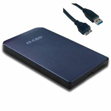 """Boitier USB 3.0 NOIR pour disque dur externe 2,5"""" SATA -compatible USB 2 IT-CEO"""