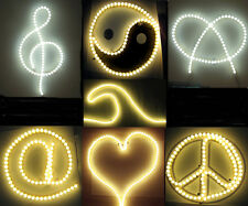 LED bullet Neon-look Lights, make your own signs, shapes, edge light, Heart, Tao