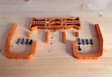 HPI BAJA BILLET/ALLOY KM BUMPER GUARD REAR SET Orange FOR HPI BAJA 5B,5T,2.0,KM