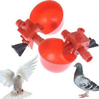 20Pcs Poultry Automatic Water Drinking Cups Bird Feed Coop Chicken Fowl Drinker~