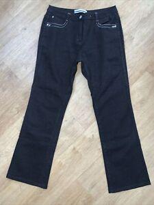 "BM Denim Women's Black Glitter sparkle Denim Stretch Fit Jeans Size 14 29"" Leg"