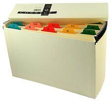 Expanding Cream 19 Pocket A-Z Indexed Concertina Box File KF04091 SENT SAME DAY