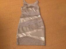 Jax Grey Sequined/lace/satin Dress Size 12