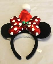 DISNEY HEADBAND TOKYO DISNEYRESORT CHRISTMAS MINNIE MOUSE EARS 2013 JAPAN F/S