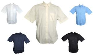James&Nicholson Herren Hemd Kurzarm Schwarz Blau Navy Weiß Gr. S M L XL XXL 3XL