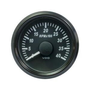 VDO SingleViu Drehzahlmesser 4.000 RPM 52 mm - 2 1/16' Schwarz A2C3833030001