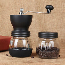 Manual Ceramic Burr Coffee Grinder Slim Hand Mill Espresso Bean Beans Kitchen