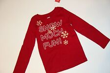 Gymboree Holiday Penguin Chalet Girls Size 3-4 Snowflake Snow Much Fun Top NWT