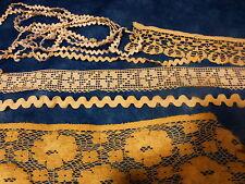 lot divers dentelles anciennes coton ,crochet main ,et croquet blanc
