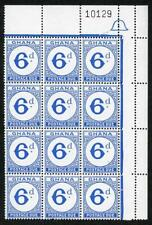 Ghana SGD16 6d Bright Ultramarine block of 12 U/M