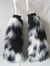 Rave Fluffies Wrist Cuff Set Fluffy Furry Legwarmers UV GLOW boot covers gators