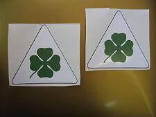 ALFA ROMEO cloverleaf car stickers x2