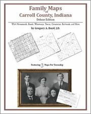 Family Maps Carroll County Indiana Genealogy IN Plat