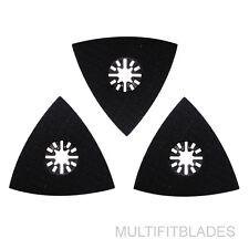 3 x  Triangular Oscilatting Tool Sanding Pads - Craftsman Multi Tool Compatible