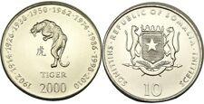 elf Somalia Republic 10 Shilling 2000 Zodiac Tiger
