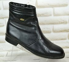 BALLY Womens Black Leather Casual Ankle Boots Shoes Italy Size 7.5 UK 41.5 EU