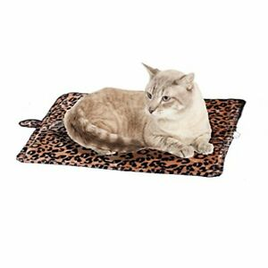 Purrfect Thermal Self-Heating Pet Bed - Leopard Brown