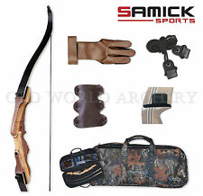 Samick Sage Take Down Recurve Bow 45# Starter Kit Package Right Handed