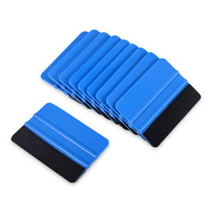 "100 Pcs 4"" Blue Squeegee Felt Tape Vinyl Wraps Applicator Tools Window Tint FAST"