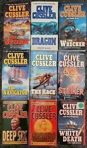 CLIVE CUSSLER 9 BOOK LOT ACTION ADVENTURE THRILLER PAPERBACK NOVELS