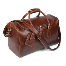 Men's Leather Travel Bag Weekender Overnight Carry On Handbag Gym Shoulder Bag