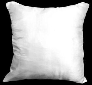 Ja143a 2 Pcs Off White Poly Taffeta Plain Cushion Cover/Pillow Case*Custom Size