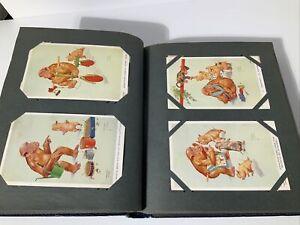 LARGE VINTAGE POSTCARD ALBUM - 188 STUNNING CARDS - INTER-WAR - 1930's