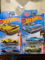2020 Hot Wheels Jegs Challenger,Laughlin Camaro. '64 Chevelle &Green Nova Gasser