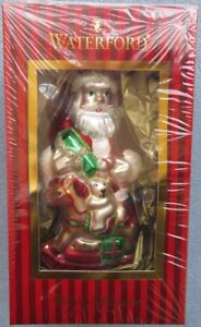 Waterford Holiday Heirlooms Santa's Rocking Horse Ornament Mint New in Box