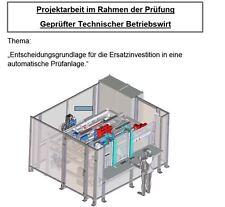 TBW Note 1 Geprüfter Technischer Betriebswirt IHK. Projektarbeit 92 Punkte.